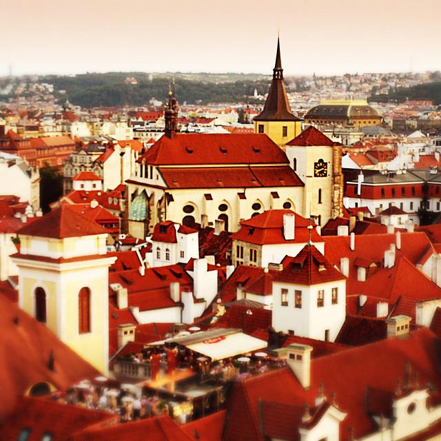 Los tejados rojos de Praga