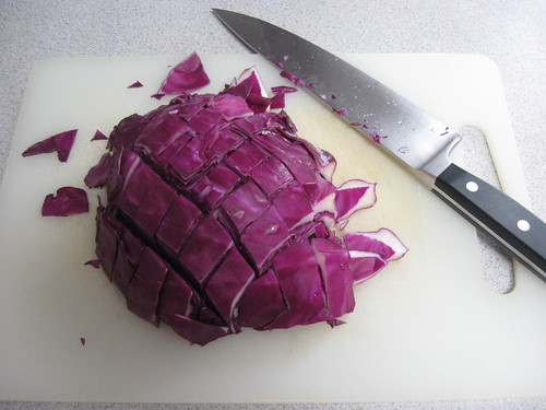 Chop Red Cabbage