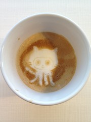 Today's latte, Octocat again and again! 1
