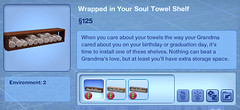 Wrapped in Your Soul Towel Shelf