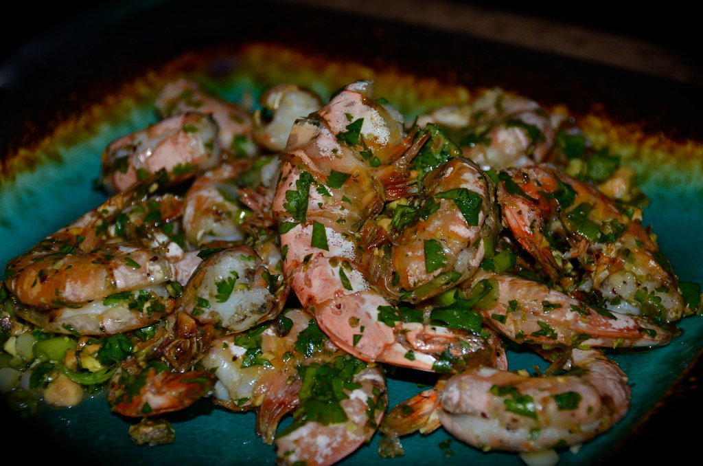 Grilled Shrimp with Cilantro, Lime & Pistachios