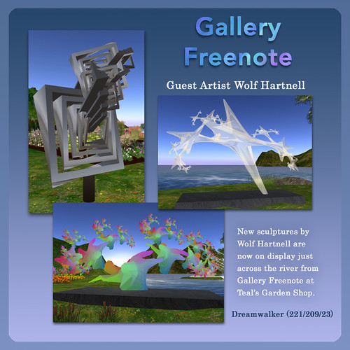 Guest Artist @ Gallery Freenote InWorldz by Teal Freenote