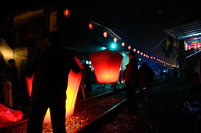 2012.01.26 台北 / 菁桐國小 / 天燈