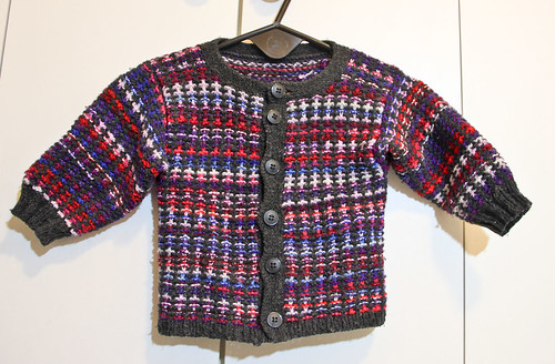 Mosaic Knit Baby Jacket