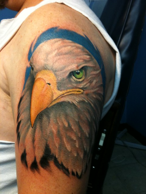 Keith Groves eagle tattoo Artistic Ink
