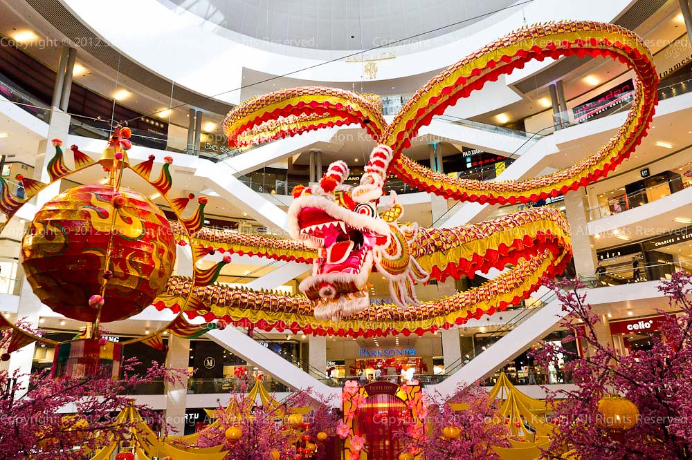 CNY decoration @ Pavilion, KL, Malaysia