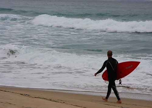 Surfista en Monte Louro