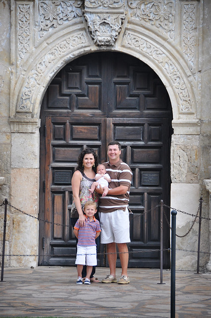 fam in front of the alamo