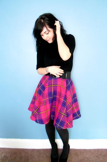 Completed: Giant Plaid Circle Skirt | LLADYBIRD