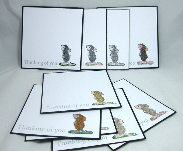 House Mouse Thinking of you Notecard set