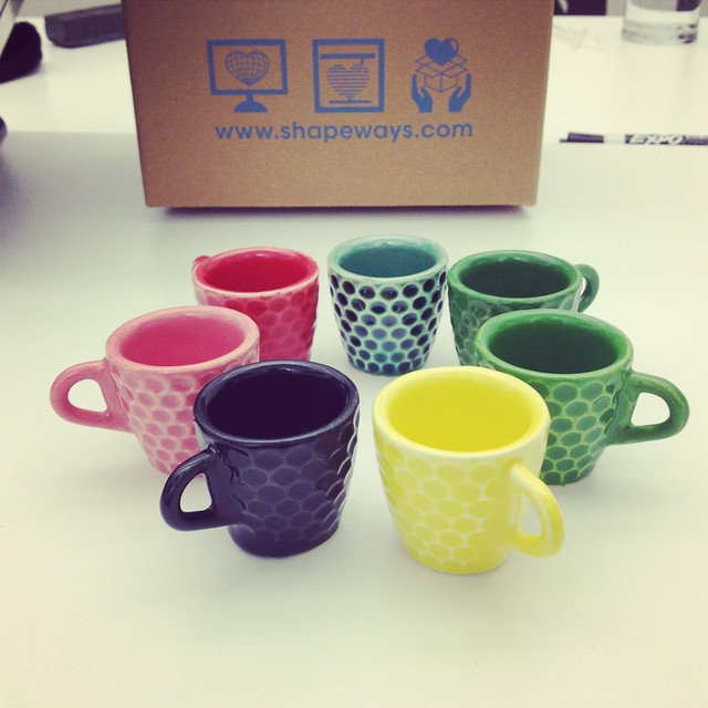 Color Experiments for 3D Printed Ceramics at Shapeways