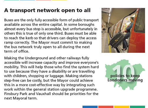 Making the Tube more Accessible - '10 policies to keep Londoners moving'