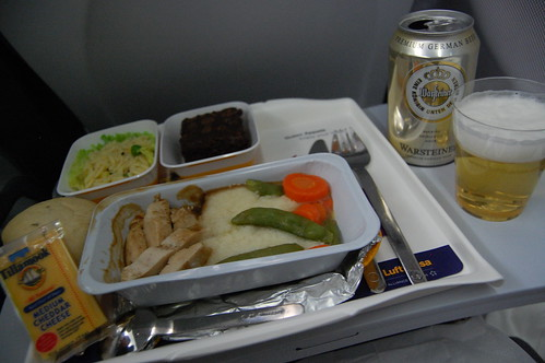 Airplane meal on Lufthansa
