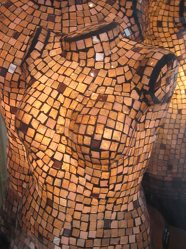 Mosaic Female Bust Sculpture