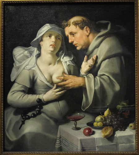 De monnik en de non (Monk touching a nun`s breast)