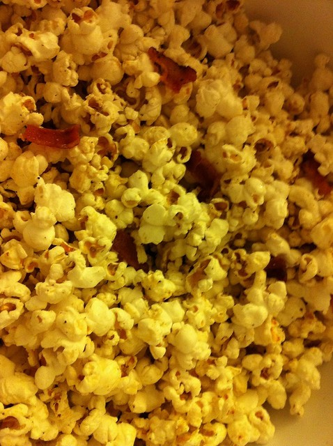 bacon fat popcorn with bacon, & bourbon infused maple syru… | Flickr ...