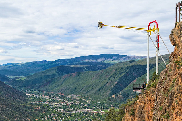 Giant Canyon Swing at Glenwood Caverns