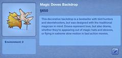 Magic Doves Backdrop