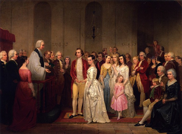 The Marriage of Washington to Martha Custis by Junius Brutus Stearns
