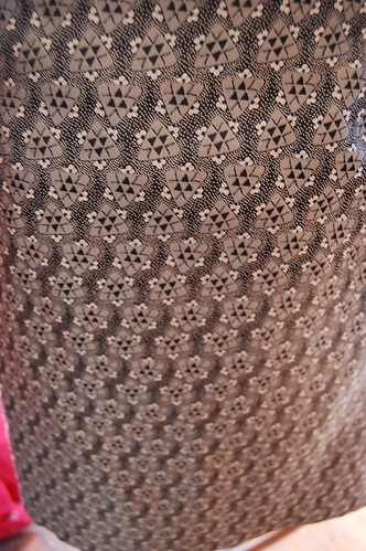 Closeup of M3341 skirt fabric