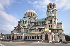 The gold-domed Alexander Nevsky Cathedral - Built in honour to the Russian soldiers who liberated Bulgaria from Ottoman (Turk) rule