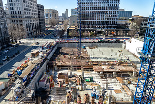 Construction on Broad | by Sky Noir