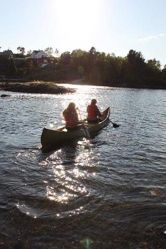 Kano på Eidsholmen, fotograf Torbjørn B. Lauen