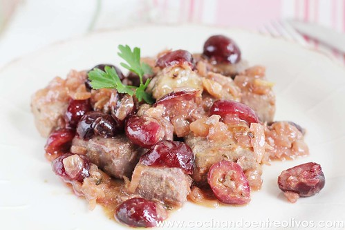 Atún con cerezas www.cocinandoentreolivos (1)
