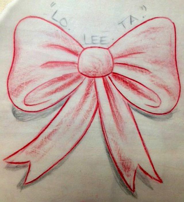 Lolita tattoo design sketch