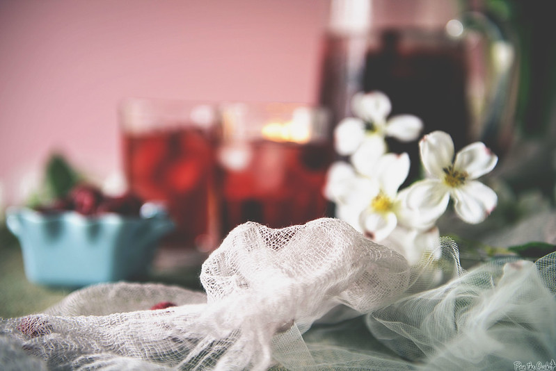 Raspberry Sake Tea \\ PasstheSushi.com