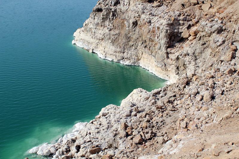 Formations de sel mer morte