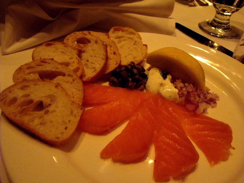 Hy's Steakhouse smoked salmon