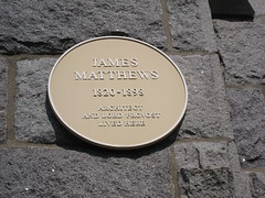 Photo of James Matthews yellow plaque