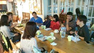 小組討論中。攝影:郭叡