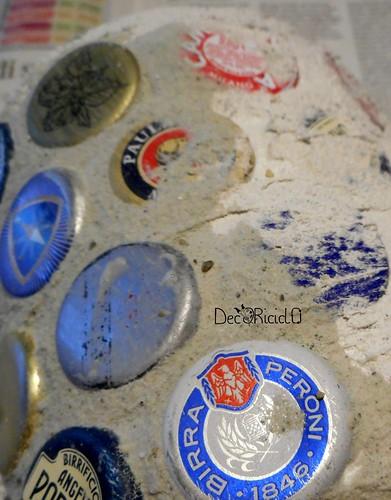 barattolo mosaico di tappi a corona 6