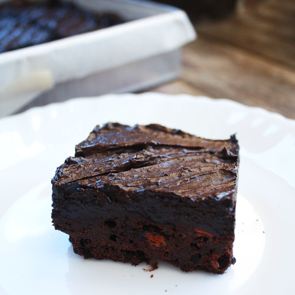 Fudgy Chocolate Chunk Brownies with Malted Chocolate Frosting | Sweet ...