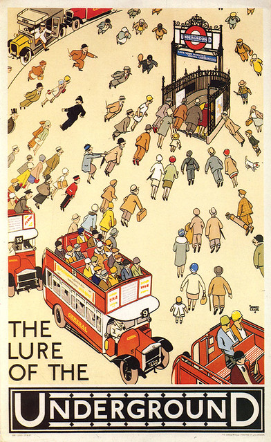 Alfred Leete, The Lure of the Underground 1927