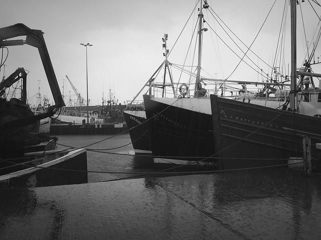 Fishing Boats in the rain