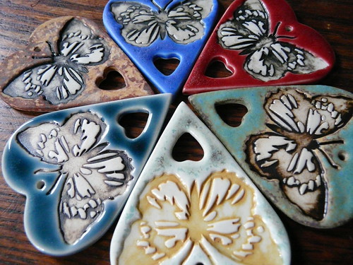 Butterfly Love - Porcelain Jewelry Components