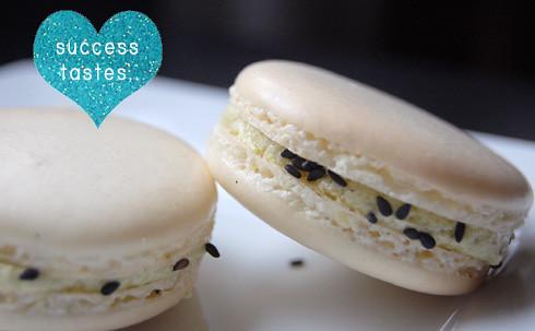macaron macaroon french vanilla bean machi green tea butter cream
