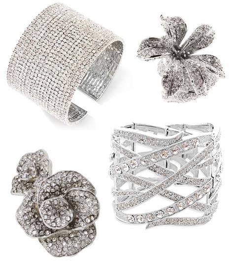 crystal pave cuff bracelets-paltrow oscars