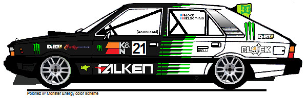 Polonez w/ Monster Energy colors | Flickr - Photo Sharing!