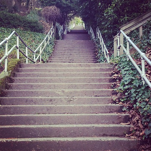 Stairs. Capitol Hill, Seattle. howe street