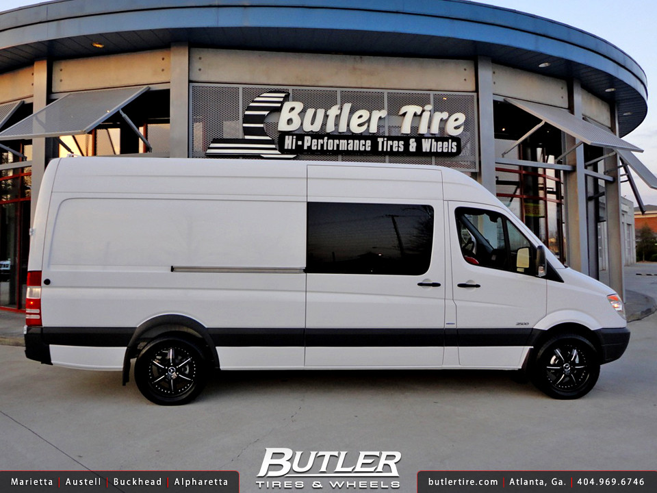Mercedes sprinter 2500 with 20in mht llc 6 wheels a for Mercedes benz sprinter wheels
