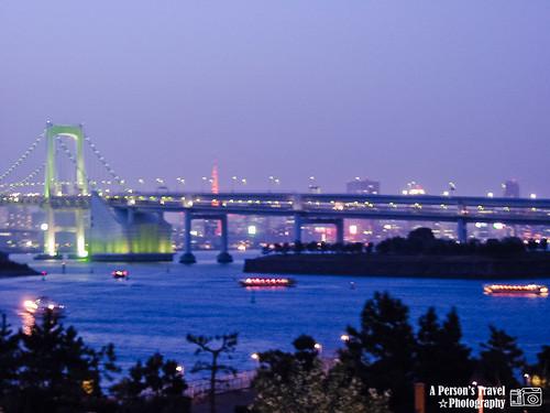 東京彩虹大橋夜景 @台場