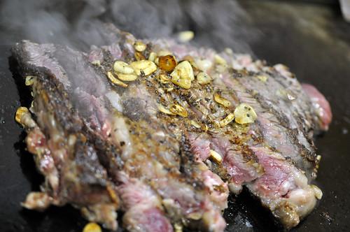 Garlic steak