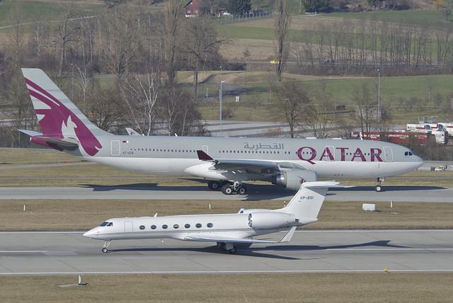 Untitled Gulfstream Aerospace G-V-SP Gulfstream G550; VP-BSI@ZRH;10.03.2012