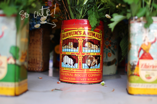 vintage tins