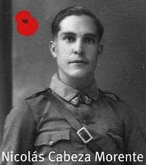 Nicolás Cabeza Morente, desaparecido durante la Batalla del Ebro.