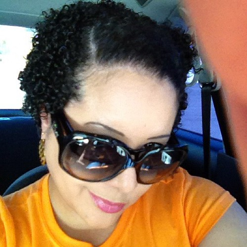 Me and my very short #hair #naturallycurly it will be a month this week since I cut it short #juicycouture #coach #eyeglasses #dior #vw #beetle #car #march